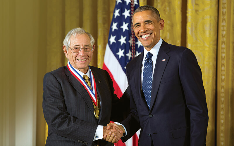 Dr. Fischell and President Obama