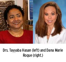 Drs. Hasan (left) and Roque (right)