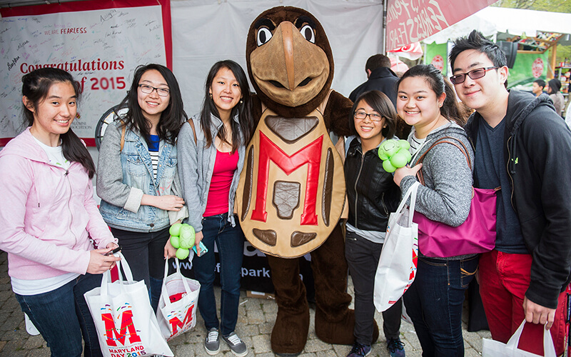 Students with Testudo